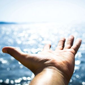 A hand across the Black Sea showing unlimited horizons
