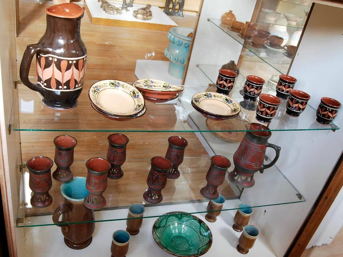 Bulgarian pottery in the Museum of Folk Art Crafts and Applied Arts, Troyan