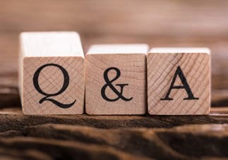 Q&A Text On Wooden Block
