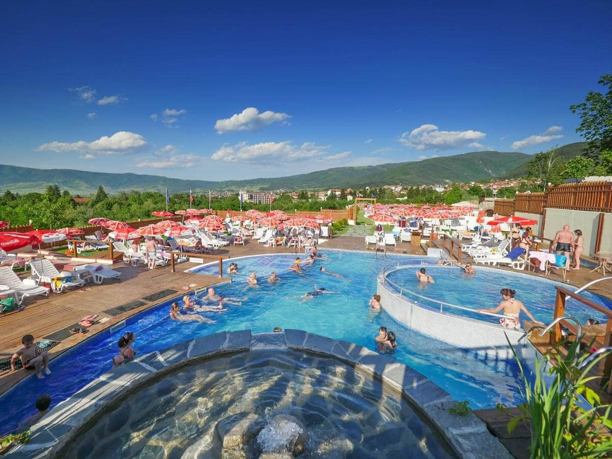 Swimming pool with mineral water in Sapareva Banya, Bulgaria