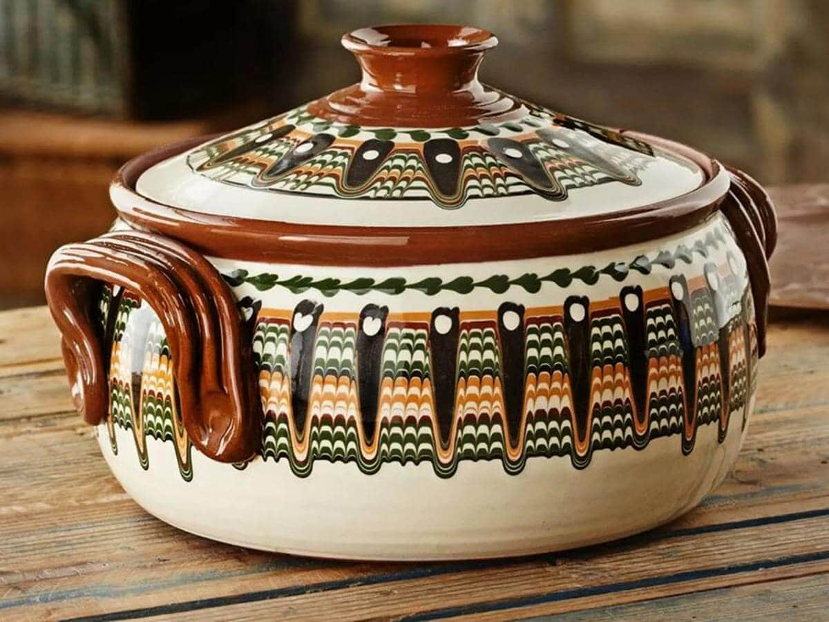 Troyan ceramic cooking pot typical for a traditional Bulgarian families