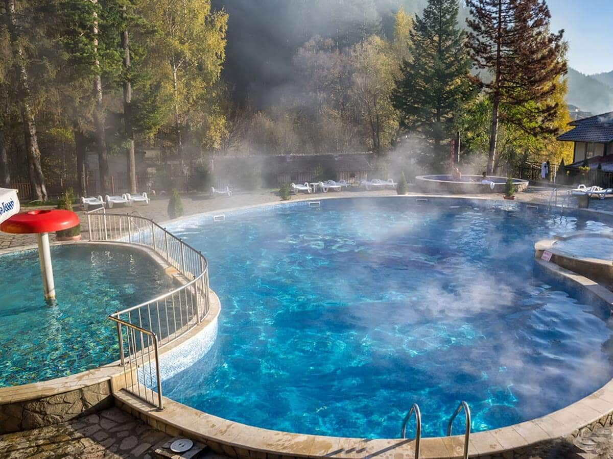 Hot springs in Chiflik Troyan, Bulgaria