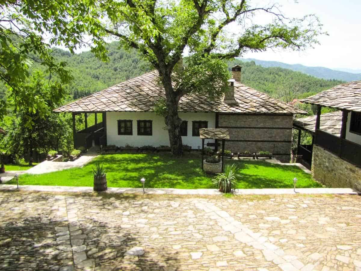 Old house in the typical Bulgarian Revival style at, Oreshak, Bulgaria