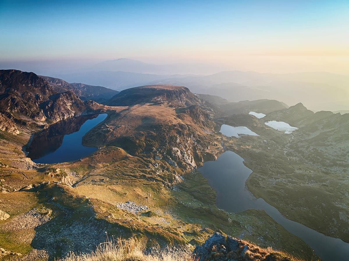 The famous Seven Rila Lakes in Sunrise - Rila, Bulgaria