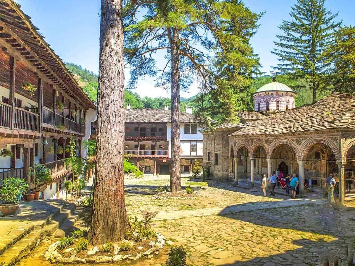 The yard of the Troyan Monastery, near the city of Troyan
