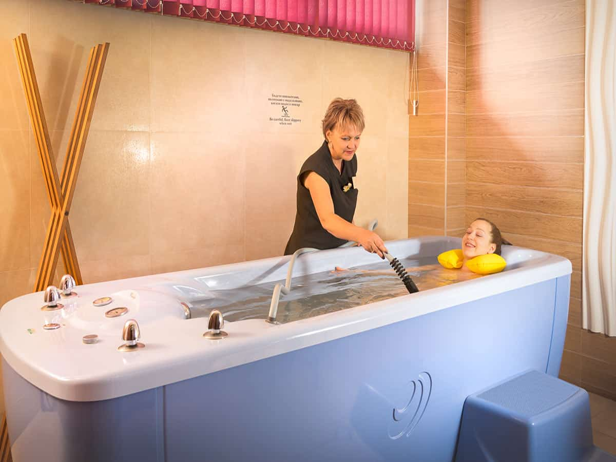 Healing procedures with thermal water in pearl bath, Bulgaria