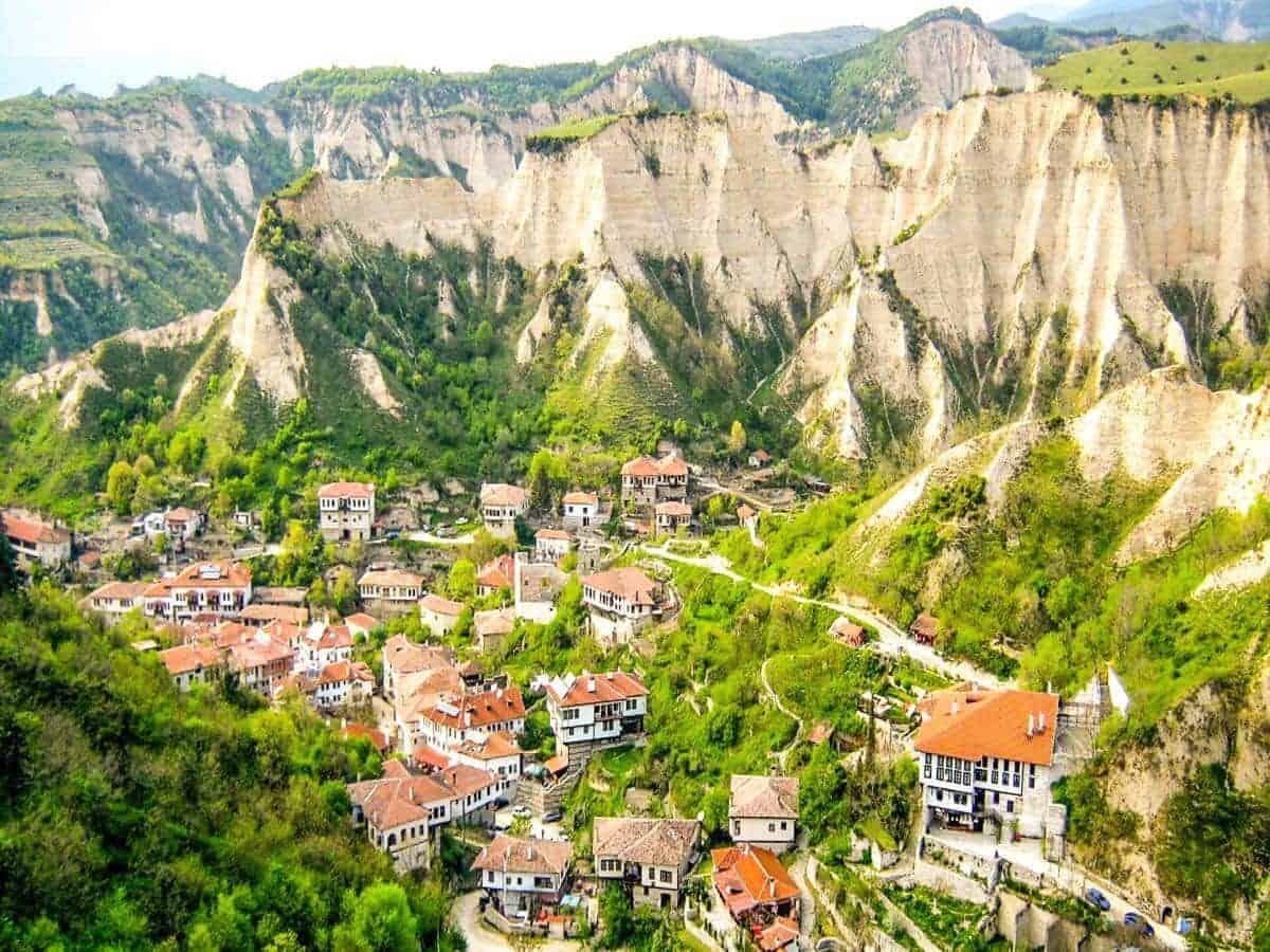 One of top 10 tourist attractions in bulgaria, The town of Melnik