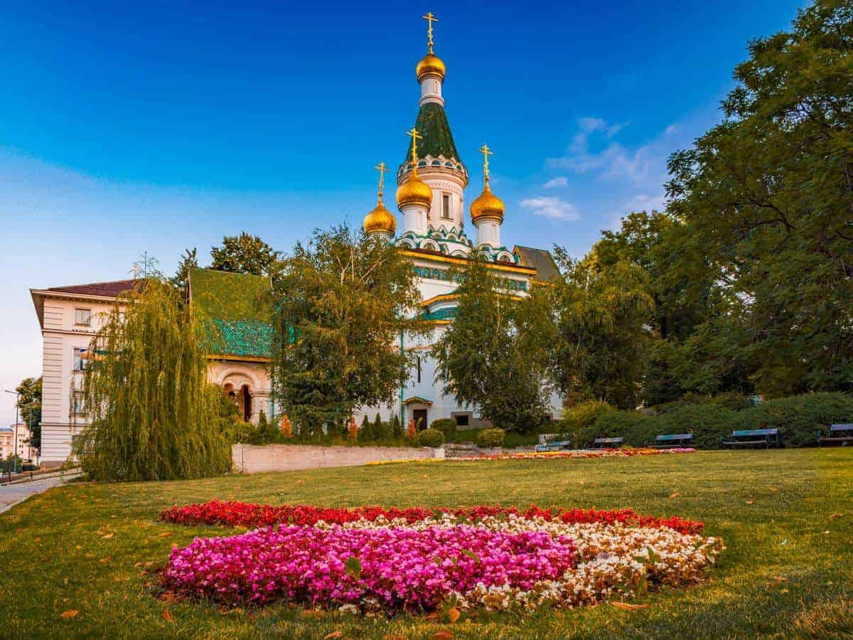 The Russian Church of St. Nicholas the Miracle-Maker in Sofia and Bulgaria tour package price