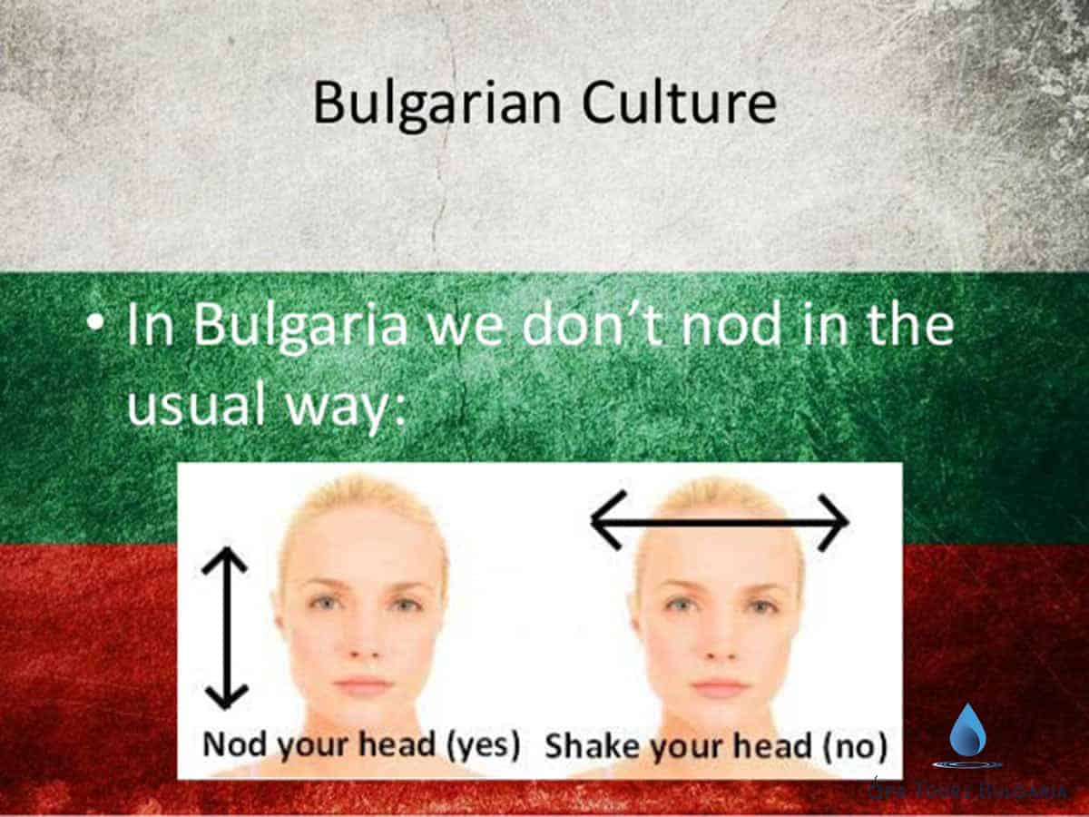 Typical ways of nod with head in Bulgaria