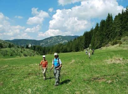 Group of hikers taking advantage of tailor-made holidays meaning in Bulgaria.