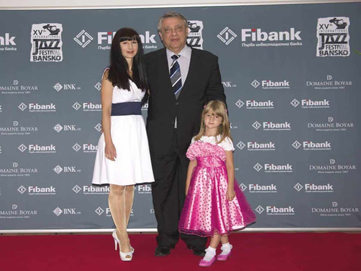 Dr. Emil Iliev with his wife and small daughter